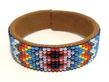 Handmade Native American Indian Style Beaded Cuff Bohemian Summer Bracelet
