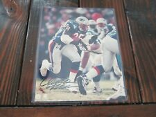 CURTIS MARTIN Autograph 8x10 Photo NEW ENGLAND PATRIOTS Signed PICTURE Glossy