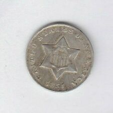 1851 USA SILVER THREE CENT IN GOOD VERY FINE OR BETTER CONDITION.
