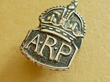 More details for vintage world war two miniature silver badge arp air raid precautions warden