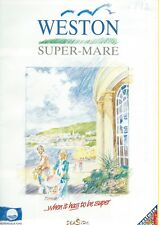 WESTON SUPER MARE 1992 Official Holiday Guide & STREET MAP info adverts illust