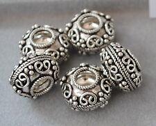 925 Silber Zwischenteile, Spacer Perlen, Altsilber, DIY Vintage Schmuck, Kugeln