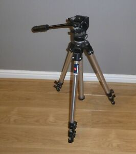 CLASSIC MANFROTTO 144 / FL01 TRIPOD with #128RC HEAD in FULL WORKING ORDER