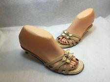 Donald J Pliner Sandals Slides Slippers Shoes Beige Leather  Size 6 M