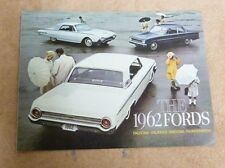 1962 FORD FALCON GALAXIES WAGONS THUNDERBIRDS US DEALER SALES BROCHURE SPEC BK2B