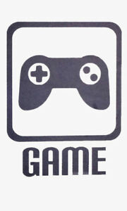 CUSTOM ORDER - Game, Logo and controller decals - Wall Art Decal/Stickers