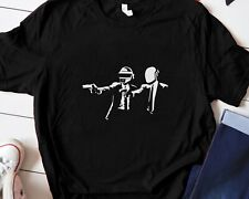 New ListingDaft Punk Electronic Dance Music Vintage Black T-Shirts Unisex Short Sleeve