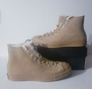 Converse Chuck Taylor 70 Shearling Lined Wheat Winter Shoes 166318C Size 7.5 New