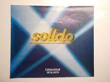 Catalogue Solido Voitures miniatures 1978