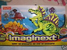 Imaginext Ripper Spinosaurus Spike Stegosaurus NEW Dinosaur ROAR Electronic RARE