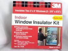 3M Indoor Window Insulator Kit Clear Film Scotch Tape 2 3 X 5 Windows 2120