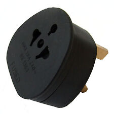 TOURIST TRAVEL ADAPTOR CONTINENTAL AMERICAN to 13A 230 VOLT UK PLUG (See Details