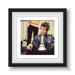 """Bob Dylan - Highway 61 Revisited   12"""" Album Cover - Framed 16"""" x 16"""""""