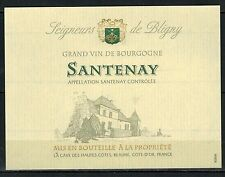 Etiquette Vin de Bourgogne - Santenay - Seigneurs de Bligny - Réf.n°129