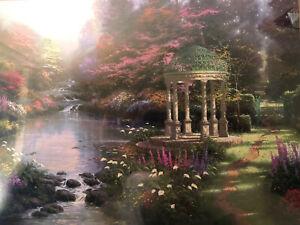 "Thomas Kinkade ""The Garden of Prayer"" 8 X 10 with COA Sealed Ready for Framing"
