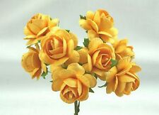 # 10 Large Bright Yellow Roses on stems by Green Tara