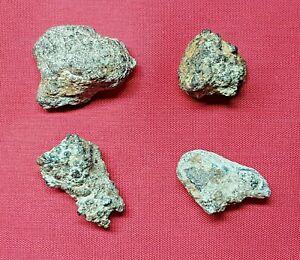 Roman Republic , AES Rude 4 Pieces , Before Money , Bronze with Iron , 34 grams