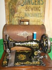 Antique Vintage Singer VS3 28k Ottoman Carnations Hand Crank Sewing Machine 1895