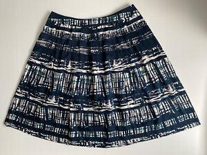 SPORTSCRAFT Size 16 Women Skirt - Blue Navy Green Pleated A-Line Skirt
