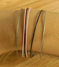 !! HAND MADE !! STAINLESS STEEL COATED BRACELET SETS.