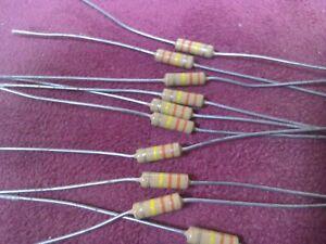 ISKRA carbon film resistors.Vintage Pack of 25 Tolerance 5/% OHMS 7,5 M