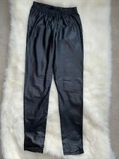 H&m Womens Black Leather Skinny Legging Size Small