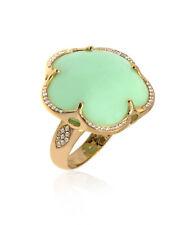 Pasquale Bruni Bon Ton 18k Rose Gold Diamond And Chrysoprase Ring Sz 6.5 15549R