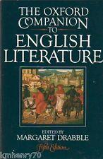 The Oxford Companion to English Literature Fifth Edition 1985 HC DJ Free Shippin