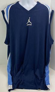 NIKE Air Jordan Mens Size 3XLT Jumpman Basketball Jersey N.C. Blue Colors