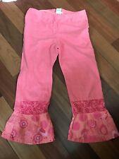 Naartjie Girls Size 9 orange/pink/coral Capris Leggings EUC