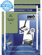 PPD A4 Inkjet Transparency Film (Overhead Projector Film) x 50 Sheets -with...
