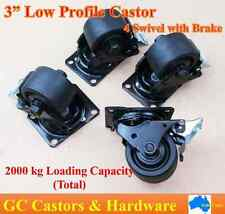 "3""Low Profile Castor Wheels,4 Swivel with Brake, 500kg load capacity per caster"