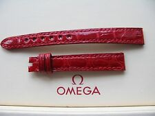 Brand New Omega Ladies 12mm Red Glossy Crocodile Strap No. 9771R022