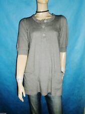 tunique SESSUN coton et laine gris Taille : Small excellent état peu porté