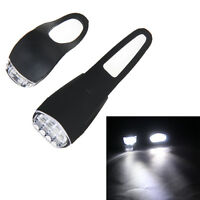 USB Rechargeable LED Bicycle Bright Bike Front Headlight + Rear Tail Light Set