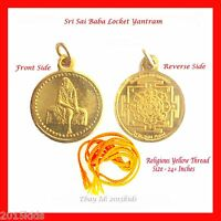 Shirdi Sai Baba Yantra Pendant Locket + Thread Hindu Goddess BUY 2 GET 1 FREE