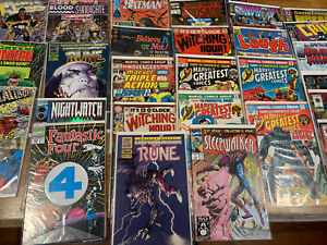 Lot Of Vintage Single Comics Unopened Packages