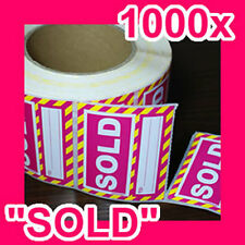 "1000 ""SOLD"" Quality REMOVABLE sticker/label GST INCLUDED (1 roll)"