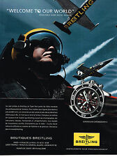 PUBLICITE ADVERTISING 124  2014   BREITLING  montre SUPEROCEAN CHRONOGRAPH II