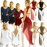 Women Lady Rhinestones Ballet Dance Dress Leotard Bodysuit Skating Lyrical Skirt
