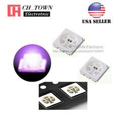 100PCS 5050 (2020) Purple/UV Light PLCC-6 SMD SMT LED Diodes Ultra violet USA