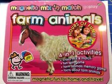 Magnetic Mix & Match - Farm Animals - 4 in 1 Activities Metal Tin  -=NEW=-