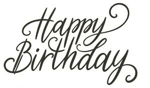Birthday - Text - Happy Birthday #13 Unmounted Clear Stamp Approx 60x35mm