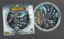 New listing World of Warcraft Wrath of the Lich King Expansion Set Windows Pc disc only Vg+
