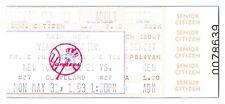 1993 New York Yankees Cleveland Indians 5/31 Sr. Citizen Ticket Paul O'Neill HR