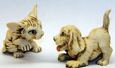 Harmony Kingdom Art Neil Eyre Designs Sphynx kitty cat hound Puppy playing set
