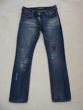 """River Island Dist/Bleach/Patched/Ripped Jeans W 32"""" I 'LG 31"""" size 10"""