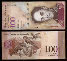 World Paper Money  Venezuela 100 Bolivares 2013 Series Y8 @ Crisp UNC