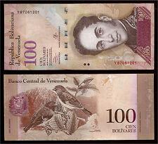 World Paper Money  Venezuela 100 Bolivares 2013 Series Y8 @ Crisp UNC