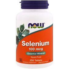 Now Foods Selenium Yeast Free 100mcg 250 Tablets